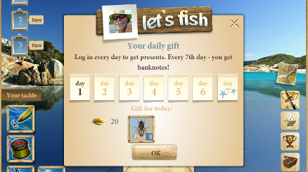 Let's Fish! Ingame Ansicht